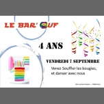Le Bar'Ouf : Soiree Anniversaire du bar - 4 ans à Paris le ven.  7 septembre 2018 de 18h00 à 01h30 (After-Work Gay Friendly, Lesbienne)