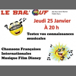 Le Bar'Ouf : Blind test musical à Paris le jeu. 25 janvier 2018 de 20h00 à 21h00 (After-Work Gay Friendly, Lesbienne)