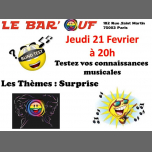Le Bar'Ouf : Blind Test à Paris le jeu. 21 février 2019 de 20h00 à 21h30 (After-Work Gay Friendly, Lesbienne)