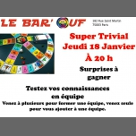 Le Bar'Ouf : Super Trivial à Paris le jeu. 18 janvier 2018 de 20h00 à 22h00 (After-Work Gay Friendly, Lesbienne)