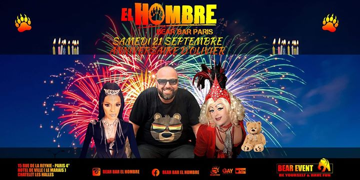 my birthday 39 Ans Je Vais Vous Mettre Le FEU !! in Paris le Sat, September 21, 2019 from 06:00 pm to 08:00 am (Clubbing Gay, Bear)