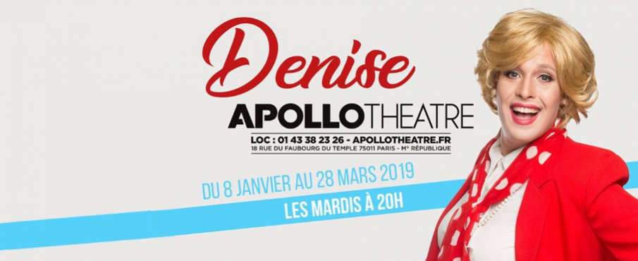 Denise dans IncontrÔlable ! à Paris le mar. 26 février 2019 de 20h00 à 21h15 (Spectacle Gay Friendly, Lesbienne Friendly)