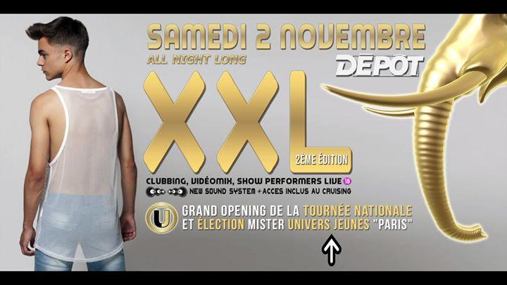◣ XXL² ◥ en Paris le sáb  2 de noviembre de 2019 23:30-07:00 (Clubbing Gay)