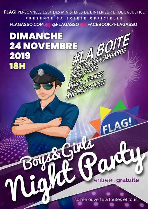 Boys & Girls Night Party in Paris le So 24. November, 2019 18.00 bis 22.30 (After-Work Gay, Lesbierin)