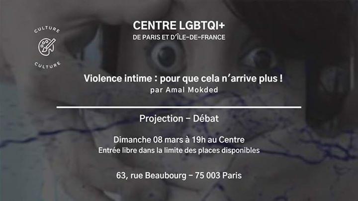 Violence intime : pour que cela n'arrive plus ! de Amal Mokded a Parigi le dom  8 marzo 2020 19:00-21:30 (Incontri / Dibatti Gay, Lesbica, Etero friendly, Orso)