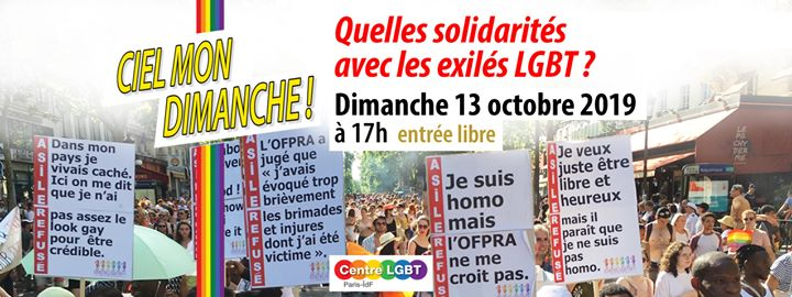 Quelles solidarités avec les exilés LGBT ? in Paris le So 13. Oktober, 2019 17.00 bis 20.00 (Begegnungen Gay, Lesbierin, Hetero Friendly, Bear)