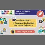 巴黎« Écoutons la douceur des textes lesbiens »2018年 8月28日,20:00(男同性恋友好, 女同性恋 见面会/辩论)
