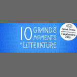 10 Grands Moments de Littérature em Paris le sáb,  7 setembro 2019 07:00-20:00 (Reuniões / Debates Gay, Lesbica, Hetero Friendly, Bear)