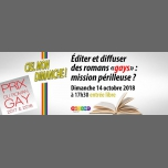 "Editer et diffuser des romans ""gays"" : mission périlleuse ? in Paris le Sun, October 14, 2018 from 05:30 pm to 07:30 pm (Meetings / Discussions Gay, Lesbian, Hetero Friendly, Bear)"