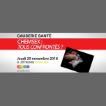 Chemsex : tous confrontés ? Causerie débat in Paris le Thu, November 29, 2018 from 08:00 pm to 10:00 pm (Meetings / Discussions Gay, Lesbian, Hetero Friendly, Bear)