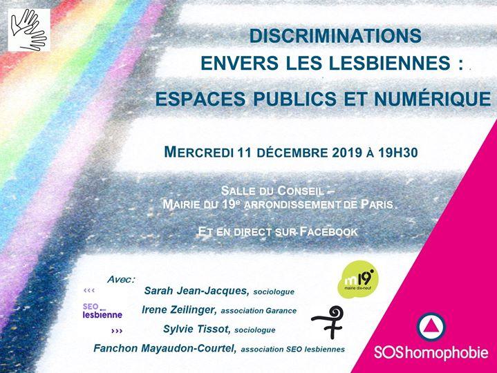 Les lesbiennes dans les espaces publics et le numérique in Paris le Wed, February  5, 2020 from 07:30 pm to 10:00 pm (Meetings / Discussions Gay, Lesbian, Hetero Friendly, Trans, Bi)