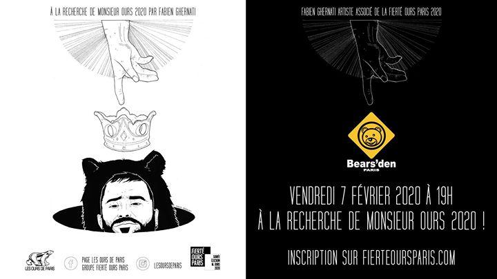 À la recherche de Monsieur Ours 2020 au Bears'den à Paris le ven.  7 février 2020 de 19h00 à 23h00 (After-Work Gay, Bear)