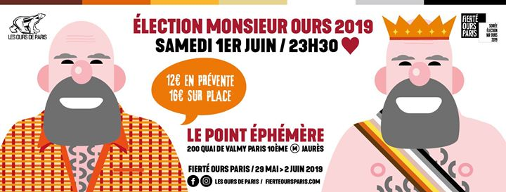 Élection de Monsieur Ours 2019 in Paris le Sat, June  1, 2019 from 11:30 pm to 03:00 am (Clubbing Gay, Bear)