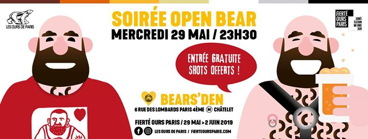 Soirée Open Bear 2019 em Paris le qua, 29 maio 2019 23:30-04:00 (Clubbing Gay, Bear)