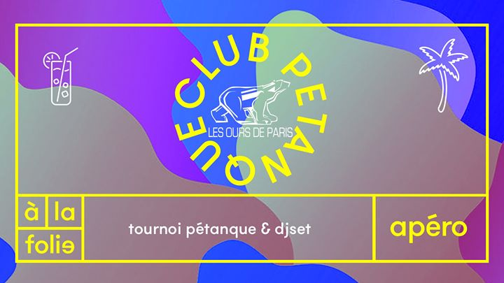 Club Pétanque : les ours de Paris in Paris le Wed, July 10, 2019 from 06:00 pm to 12:00 am (After-Work Gay, Bear)