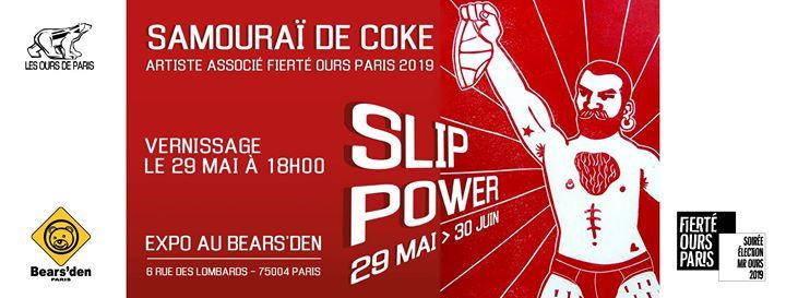 Slip Power (expo de Samouraï de Coke) à Paris du 29 mai au 12 juin 2019 (Expo Gay, Bear)