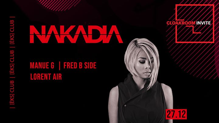 Cloakroom Invite : Nakadia, Manue G, Fred B Side, Lorent Air in Montpellier le Fri, December 27, 2019 from 11:30 pm to 06:00 am (Clubbing Gay)