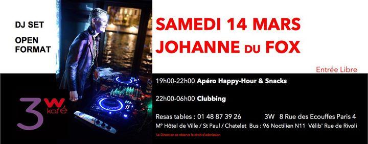 Johanne DJ Set au 3W Samedi 14 Mars all night long in Paris le Sa 14. März, 2020 19.00 bis 06.00 (Clubbing Lesbierin)