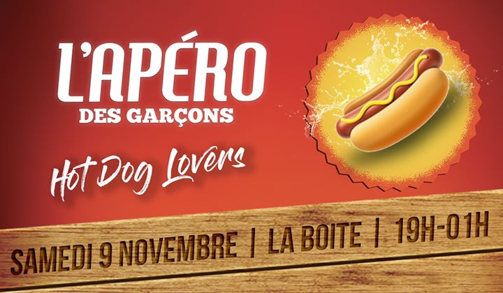 L'apéro des garçons - Hot dog lovers ! en Paris le sáb  9 de noviembre de 2019 19:00-01:00 (After-Work Gay)