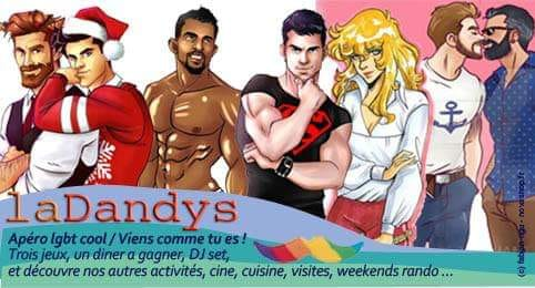 La Dandys Apéro Lgbt Cool / Viens comme tu es en Paris le sáb 12 de octubre de 2019 19:00-23:50 (After-Work Gay)
