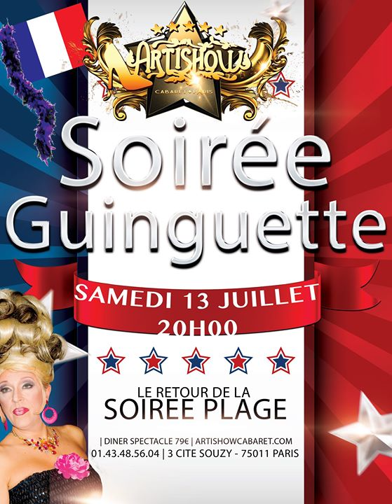 Soirée Plage Guinguette Marraine Ysa Ferrer in Paris le Sat, July 13, 2019 from 08:00 pm to 12:30 am (Show Gay Friendly)