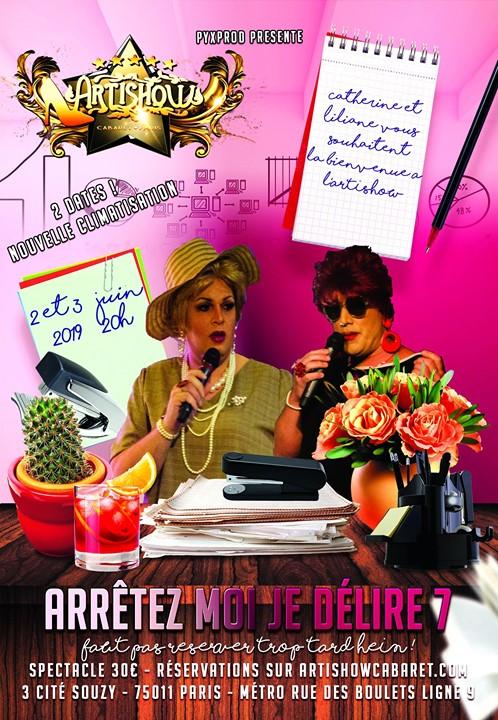 Arrétez moi je délire chapitre 7 !!! Lundi 3 juin a 20h ! in Paris le Mon, June  3, 2019 at 08:00 pm (Show Gay Friendly)