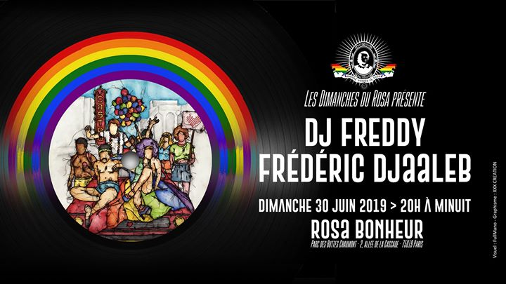 Dj Freddy & Frederic Djaaleb in Paris le Sun, June 30, 2019 from 08:00 pm to 12:00 am (After-Work Gay Friendly, Lesbian Friendly)