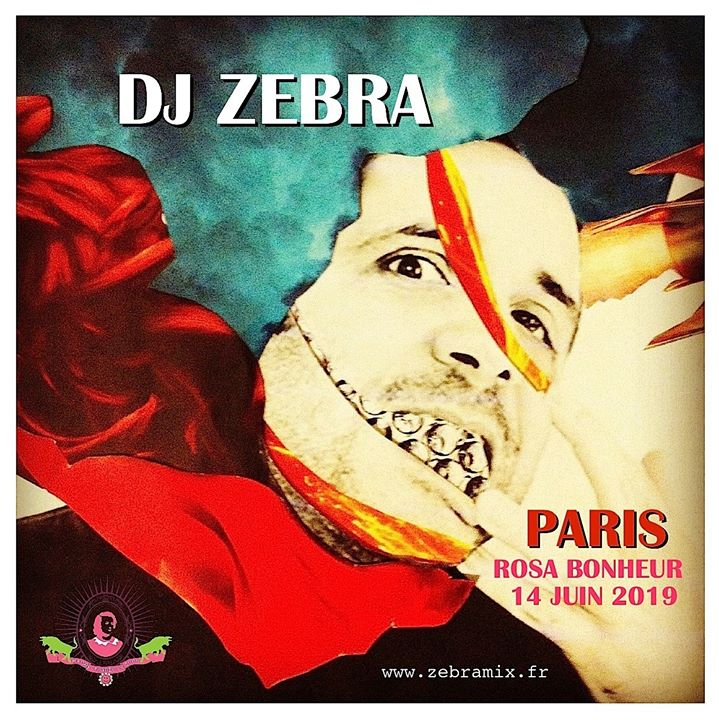 DJ Zebra // PARIS Rosa Bonheur in Paris le Fr 14. Juni, 2019 20.00 bis 23.59 (After-Work Gay Friendly, Lesbierin Friendly)