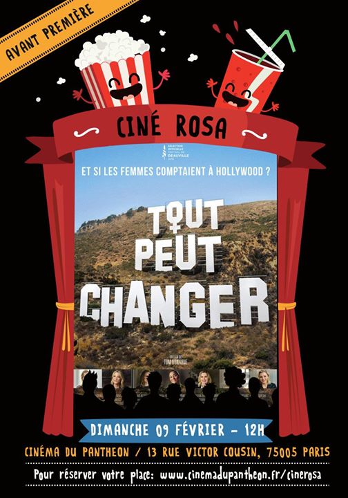 Ciné Rosa : Tout peut changer ! a Parigi le dom  9 febbraio 2020 12:00-14:00 (After-work Gay friendly, Lesbica friendly)