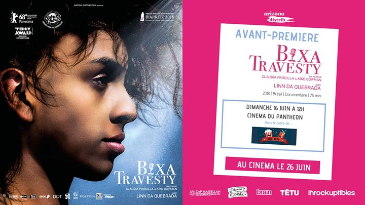 Ciné-Rosa ! Bixa Travesty in Paris le Sun, June 16, 2019 from 12:00 pm to 02:00 pm (Cinema Gay Friendly, Lesbian Friendly)