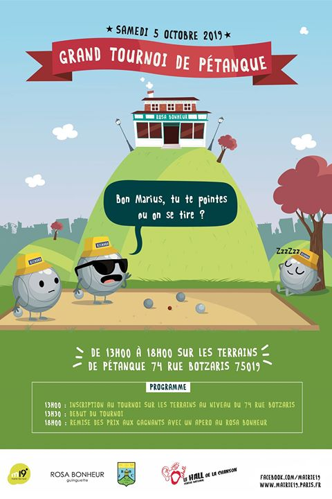 Grand Tournoi de Pétanque a Parigi le sab  5 ottobre 2019 13:00-19:00 (After-work Gay friendly, Lesbica friendly)