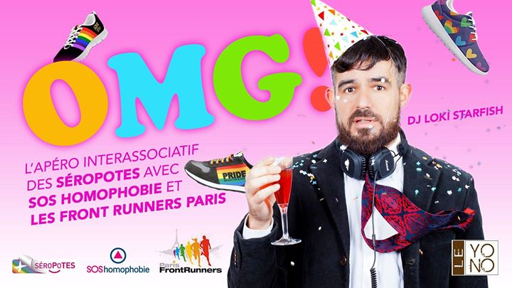 OMG ! Afterwork inter-asso des Séropotes in Paris le Wed, June 19, 2019 from 07:30 pm to 11:00 pm (After-Work Gay, Lesbian, Trans, Bi)