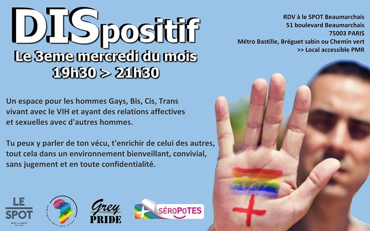 DISpositif in Paris le Wed, October 16, 2019 from 07:30 pm to 09:30 pm (Health care Gay, Lesbian, Trans, Bi)