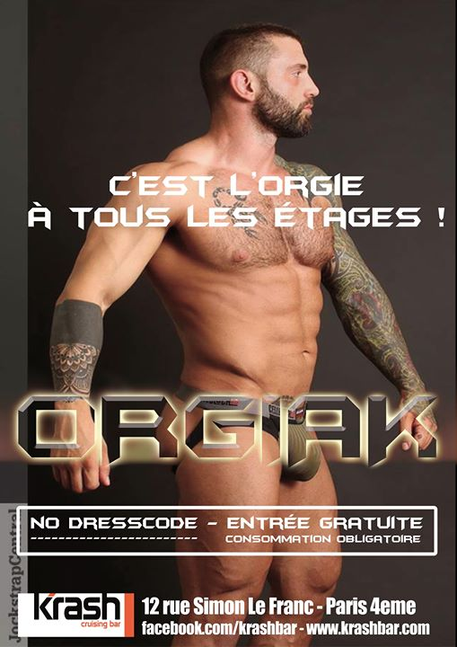 Orgiak in Paris le Sat, November 23, 2019 from 07:00 pm to 07:00 am (Sex Gay)