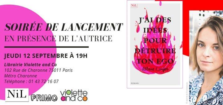 """Soirée de lancement de """"J'ai des idées pour détruire ton ego"""" in Paris le Do 12. September, 2019 19.00 bis 22.00 (Begegnungen Gay, Lesbierin, Transsexuell, Bi)"""