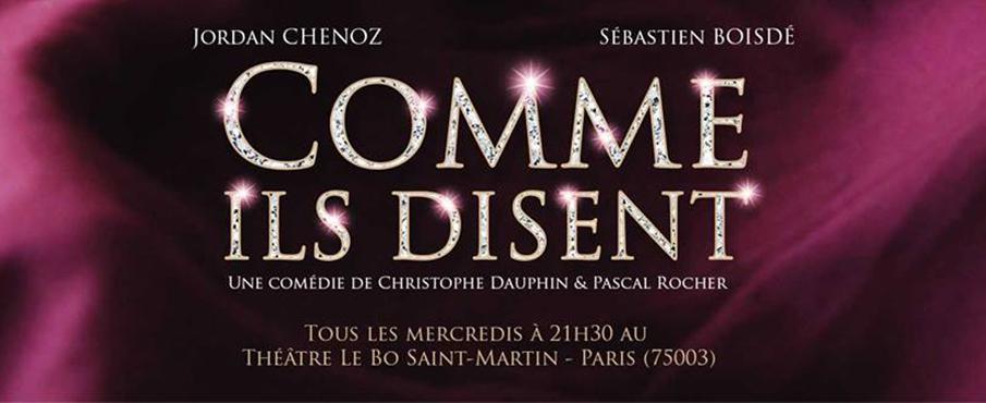 Comme ils disent à Paris le mer.  1 novembre 2017 de 21h30 à 22h30 (Théâtre Gay Friendly)