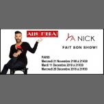 YA NICK Fait Son Show ! à Paris le mer. 21 novembre 2018 de 21h30 à 22h45 (Spectacle Gay Friendly, Lesbienne Friendly)