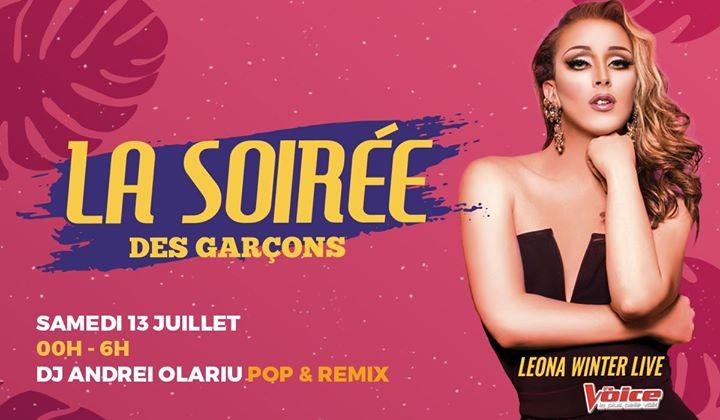 La Soirée des Garçons - Leona Winter Live in Paris le Sat, July 13, 2019 from 11:45 pm to 06:00 am (Clubbing Gay)