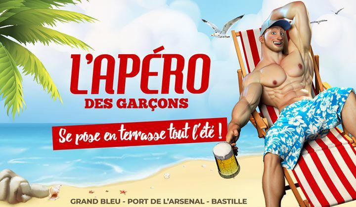 L'apéro des garçons se pose en terrasse tout l'été ! in Paris le Sat, June 22, 2019 from 06:00 pm to 02:00 am (After-Work Gay)