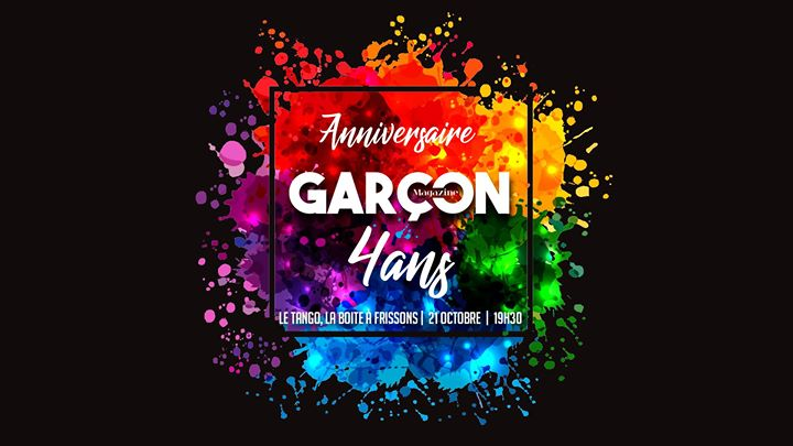 Garçon Magazine, les 4 ans ! in Paris le Mon, October 21, 2019 from 07:00 pm to 01:00 am (Clubbing Gay)
