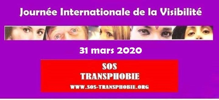 Journée Internationale de la Visibilité Trans ( TDOV ) in Paris le Di 31. März, 2020 00.00 bis 00.59 (Begegnungen Transsexuell)