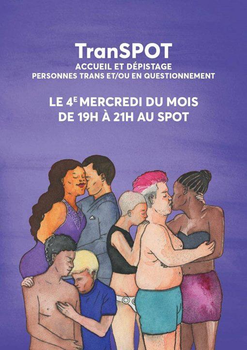 TranSPOT à Paris le mer. 24 juillet 2019 de 19h00 à 21h30 (Rencontres / Débats Gay, Lesbienne)