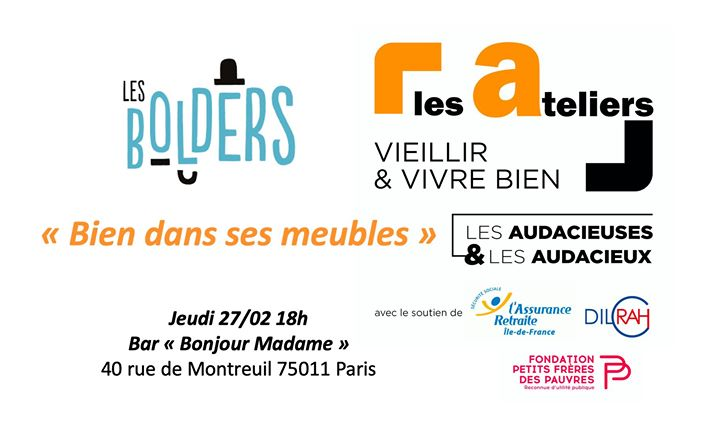 "Atelier ""Bien dans ses meubles"" in Paris le Thu, February 27, 2020 from 06:00 pm to 08:00 pm (Meetings / Discussions Gay, Lesbian, Hetero Friendly, Trans, Bi)"