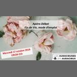 Apéro-débat des Audacieuses & Audacieux - la Fin de Vie à Paris le mer. 17 octobre 2018 de 19h30 à 21h00 (Rencontres / Débats Gay, Lesbienne, Hétéro Friendly, Trans, Bi)