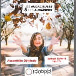 "Assemblée Générale Association ""Les Audacieuses & Audacieux"" in Paris le Sat, October 13, 2018 from 02:00 pm to 05:00 pm (Community life Gay, Lesbian, Hetero Friendly, Trans, Bi)"