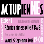 Les ActupienNEs: Réunion Bimensuelle #8 in Paris le Tue, September 25, 2018 from 07:00 pm to 09:00 pm (Meetings / Discussions Gay, Lesbian, Trans, Bi)