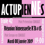 Les ActupienNEs: Réunion Bimensuelle #15 in Paris le Tue, January  8, 2019 from 07:00 pm to 09:00 pm (Meetings / Discussions Gay, Lesbian, Trans, Bi)