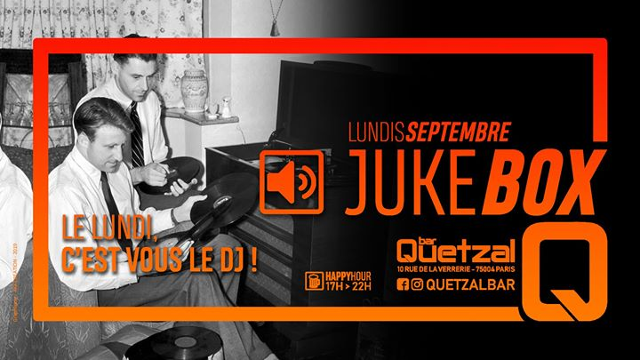 Jukebox in Paris le Mon, September 30, 2019 from 05:00 pm to 02:00 am (After-Work Gay, Bear)