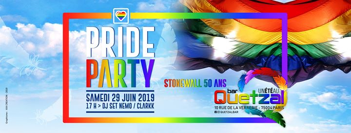PRIDE PARTY - STONEWALL à Paris le sam. 29 juin 2019 de 17h00 à 05h00 (Clubbing Gay, Bear)
