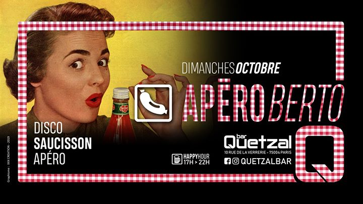 L'ApéRoberto en Paris le dom 27 de octubre de 2019 17:00-02:00 (After-Work Gay, Oso)